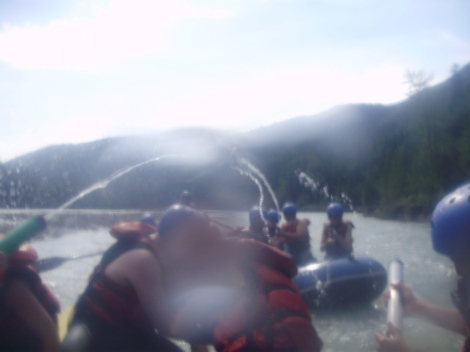 A water fight on the Smokey River