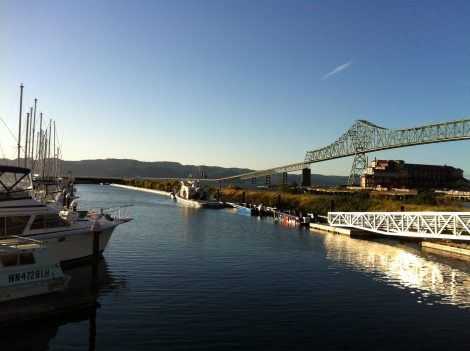 Beautiful Astoria with it's wonderfully long bridge over the marina.