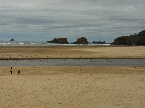 A trip to coast is not finished until you take, well... a trip to the coast - Cannon Beach to be precise.