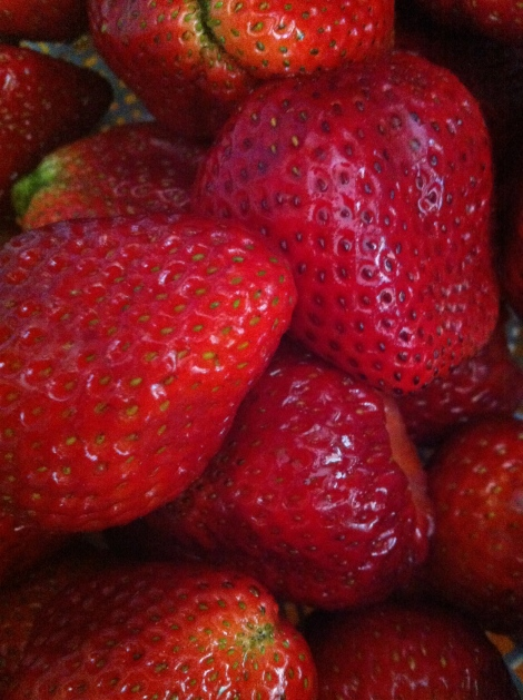 First you get about 20 pounds of strawberries.
