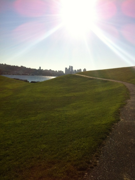 A pit stop at Gasworks Park.