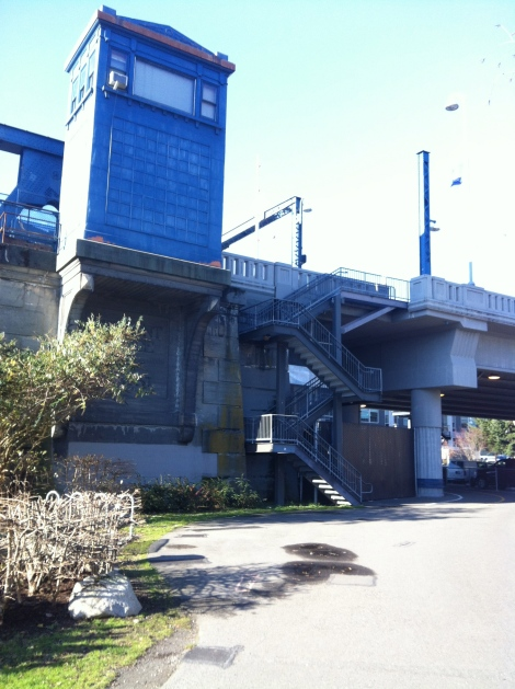 Then some more stairs up to the Fremont Bridge.