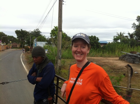 First task hopping on the pickup with 2 other volunteers and a few Mahouts to cut sugarcane for the elephants.
