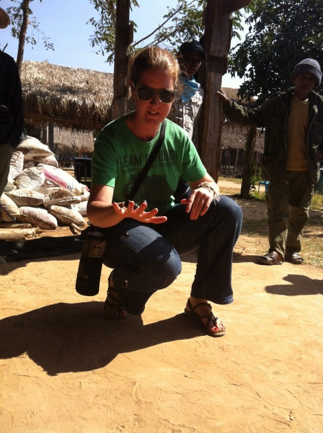 At the end of the week we participated in the Mahout Olympics - a series of games/challenges for mahout and volunteer teams. Here I am trying to catch seeds on the back of my hand and then throw them up and catch them again in the palm of my hand. I only got one.