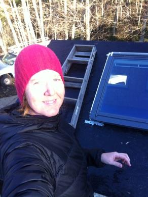 A skylight selfie!