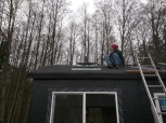 I really hated getting on and off the roof, and just being up on the roof in general...
