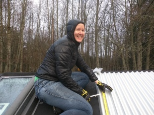 A bit of measuring to get things started with the right spacing for the skylights.