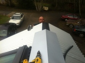 My brother-in-law Jonas was a huge help with the roof.